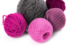 Few balls of wool Royalty Free Stock Photography