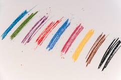 Few barwioni ślada na lekkim tle od pastelowych kredek Obraz Royalty Free