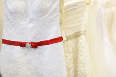 A few beautiful wedding dresses Stock Photography