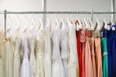 A few beautiful wedding dresses Royalty Free Stock Photography