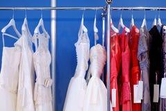 A few beautiful wedding dresses Royalty Free Stock Photo