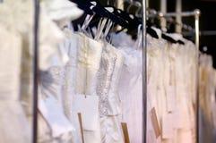 A few beautiful wedding dresses Stock Image