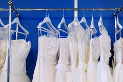 A few beautiful wedding dresses Stock Images