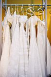 A few beautiful wedding dresses Stock Photos