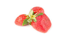 Few berries red strawberries Stock Images