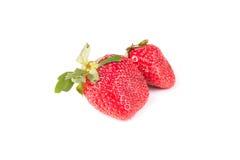 Few berries red strawberries Stock Image