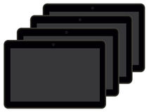 A few black tablets Royalty Free Stock Photo