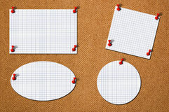 A few blank papers Stock Photos