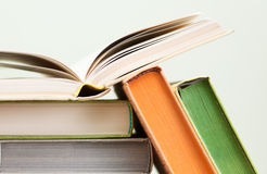 A few books with brightly covers Stock Photography