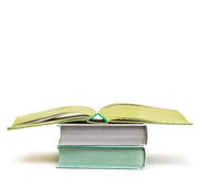 A few books  on white background Royalty Free Stock Images