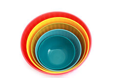 Few bowls in different colors Royalty Free Stock Photo