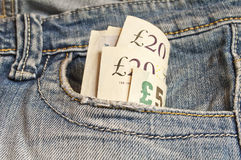 Few British pounds Royalty Free Stock Images