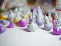 Few buds of polymer clay on the table stock photography