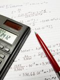 A few calculations. In physics, to study for classes royalty free stock image