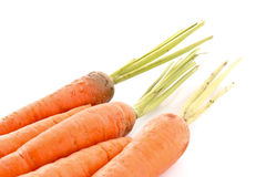 Few carrots isolated Royalty Free Stock Images