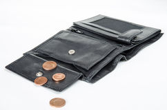 Few cents in wallet Royalty Free Stock Images