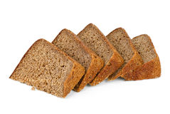 Few chunks of rye bread Stock Photos