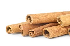 Few cinnamon sticks close-up Stock Photo