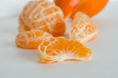 Clementine close up Stock Photos