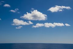 Clouds over Ocean Royalty Free Stock Image