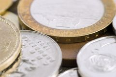 Few coins Royalty Free Stock Photos