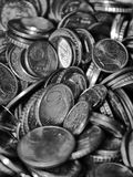 Few coins. Making a treasure Stock Image