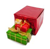 Few colored gift boxes Royalty Free Stock Photography
