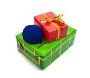 Few colored present boxes Royalty Free Stock Images