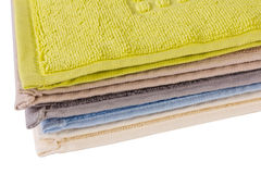 Coloured towels Stock Photos