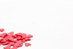 Few czerwoni serca na białym tle Fotografia Stock