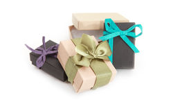 Few decorated gift boxes Royalty Free Stock Images