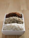 Few different type of rice Stock Photos