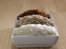 Few different type of rice Stock Image