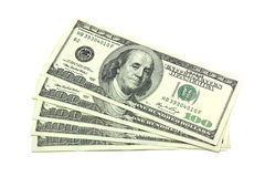 A few dollars. On a white background Royalty Free Stock Image