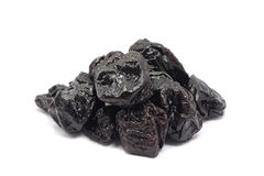 Few dried prunes Royalty Free Stock Photos