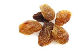 A few dried raisins Royalty Free Stock Images