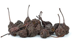 Few dried smoked pears Stock Images
