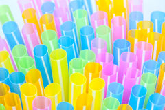 An few drinking straws Stock Images