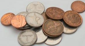 Few duży i mały rouleau monety zdjęcia royalty free
