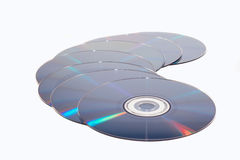 Few dvd and cd disc Stock Photography