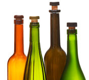 Few empty closed wine bottles close up Royalty Free Stock Photos