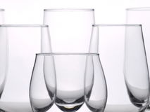 Few empty glasses Stock Images
