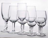 Few empty glasses Stock Photography