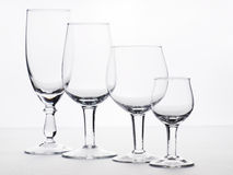 Few empty glasses. Are for swizzles Royalty Free Stock Images