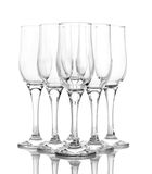 Few empty wine glasses Stock Photo