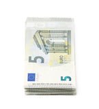 Few five euro notes isolated Royalty Free Stock Image