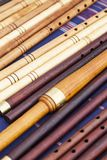 Few flutes exposed to a fair Royalty Free Stock Image