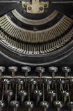 A few fonts and keys of retro writing machine Royalty Free Stock Photography