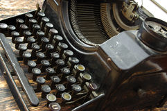 A few fonts and keys of retro writing machine Stock Photography