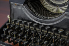 A few fonts and keys of retro writing machine Royalty Free Stock Photo